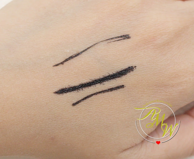 a swatch photo of L'Oreal Super Liner Superstar review in black by Nikki Tiu of askmewhats.com