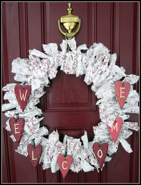 Recycled Valentine's Day Wreath