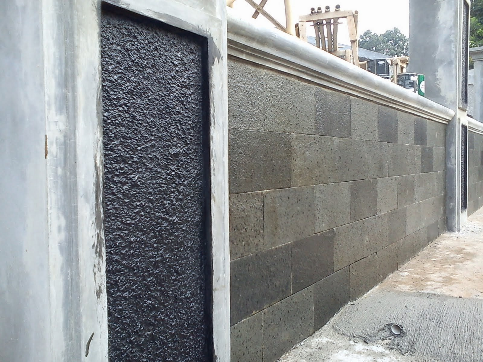 Rujukan Aneka Desain Pagar Batu Alam Untuk Rumah Idaman Desain Rumah