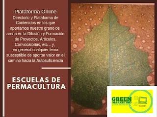 Escuelas de Permacultura, plataforma de contenidos de ECO SEO Green Marketing