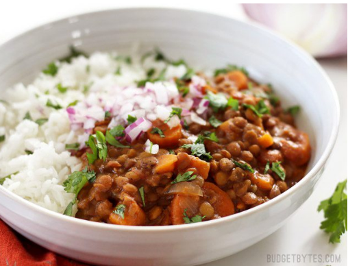 SLOW COOKER COCONUT CURRY LENTILS #delicious #healthyeating