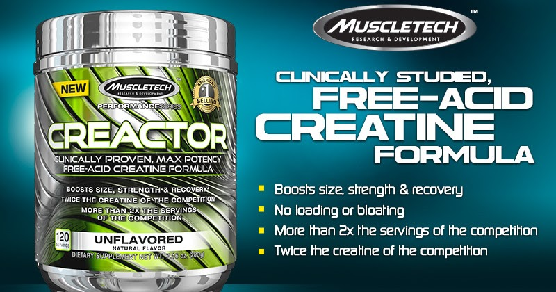 MuscleTech Creactor Creatine Review | Bodybuilding Your Whey