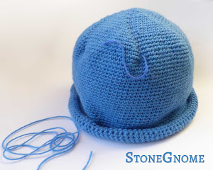 Crochet Hat with Roll Brim
