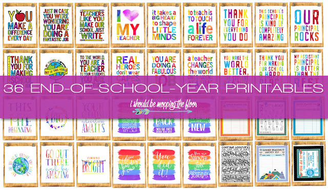 End of School Printables