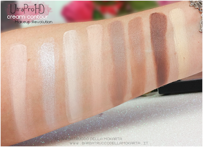 swatches ultra pro hd cream contour makeup revolution