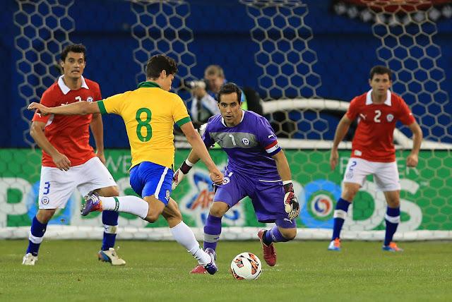 Brasil y Chile en partido amistoso, 19 de noviembre de 2013
