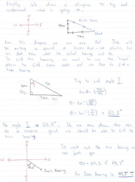 Year 10 Maths: Bearings and Trigonometry