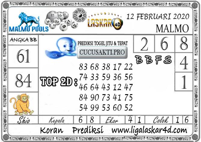 Prediksi Togel MALMO LASKAR4D 12 FEBRUARI 2020