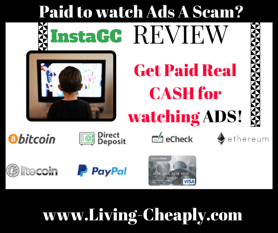 InstaGC Review - Paid To Watch Ads A Scam?