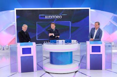 Joseval Peixoto, Silvio Santos  e Marco Antonio Villa - Crédito: Lourival Ribeiro/SBT