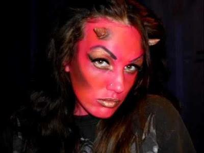 maquillaje de diablo o demonio