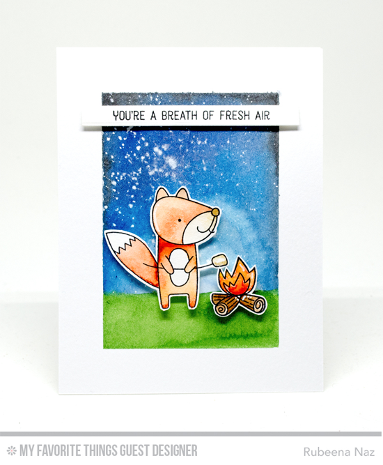 Breath of Fresh Air Card by Rubeena Naz featuring Warm & Fuzzy Friends stamp set #mftstamps