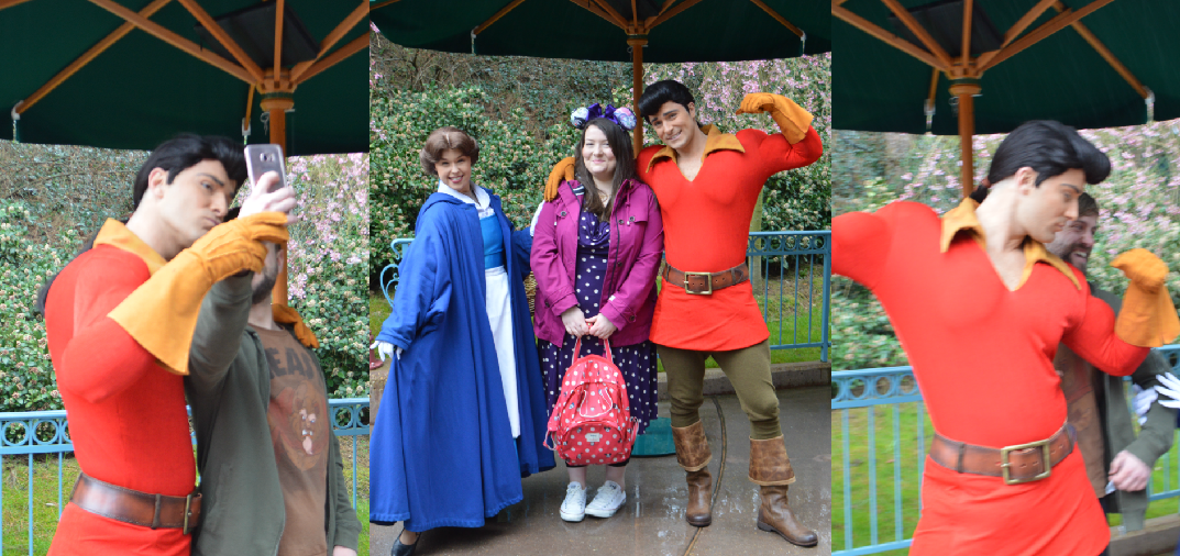 This is a picture of the Disneyland Paris Gaston meet and greet
