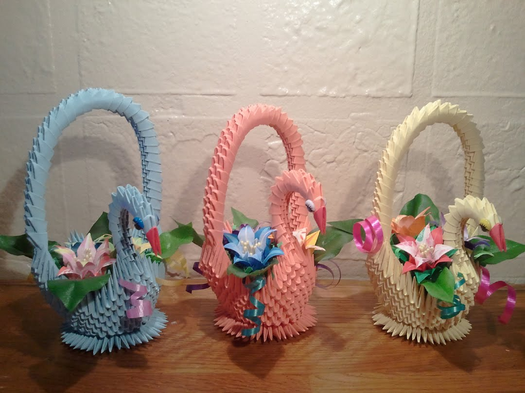 How to make 3d origami swan basket crazzy craft download video jeuxipadfo Image collections