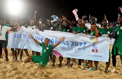 Nigeria Qualifies For 2017 FIFA Beach Soccer World Cup