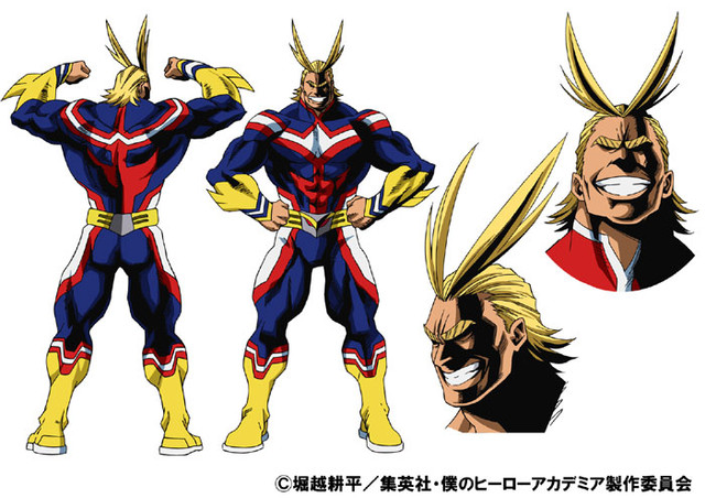 Projekt postaci All Might - superbohater