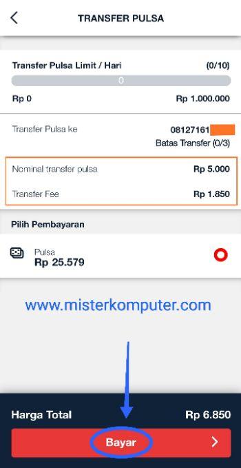 Cara Transfer Pulsa Simpati dari Aplikasi MyTelkomsel
