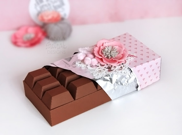 paper decor for candy bar chocolate