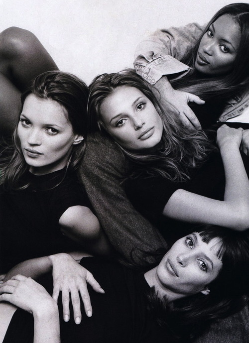 classic photo: the Girls supermodels by Patrick Demarchelier Marie Claire UK 1994