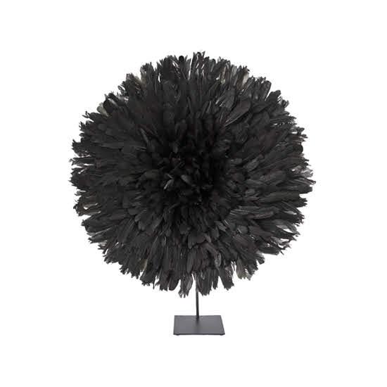 Safari Fusion blog   Colour crush / black and white   Bamileke Feather Headdress (small   black) with Stand by Safari Fusion   Image © Safari Fusion