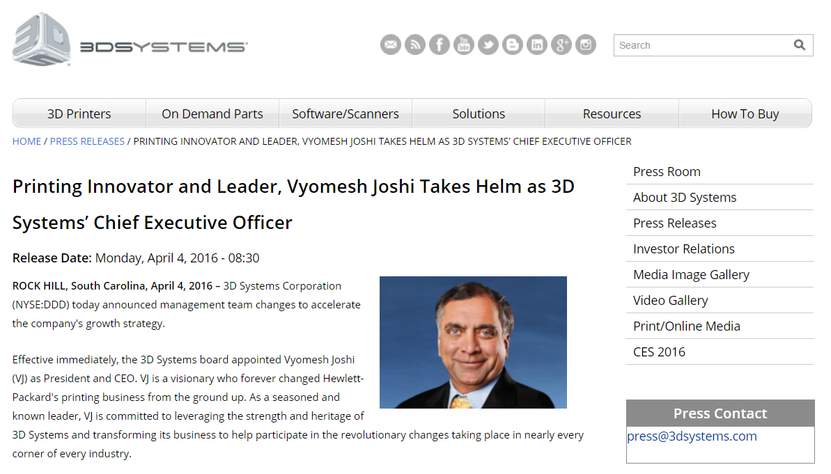 Jim Lyons Observations: 3D Systems $DDD Reseller delighted