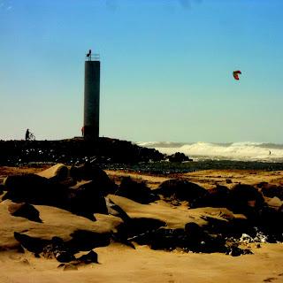 Kitsurf, na Praia dos Molhes, em Torres