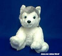 Siberian Husky Plush Stuffed Animal Aurora Toys