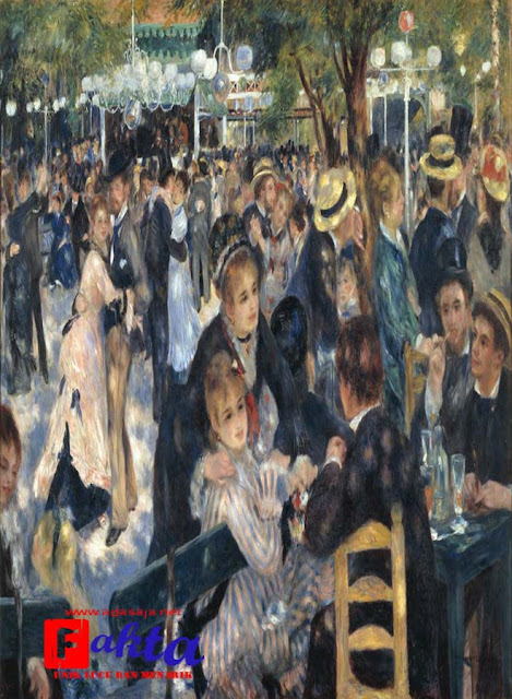 Lukisan Bal Du Moulin De La Galette Karya Pierre-Auguste Renoir lukisan paling mahal di dunia