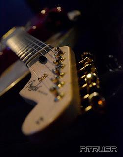 Detalle mástil guitarra