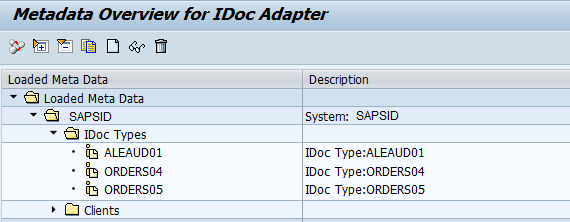 IDoc metadata of Business Systems in PI