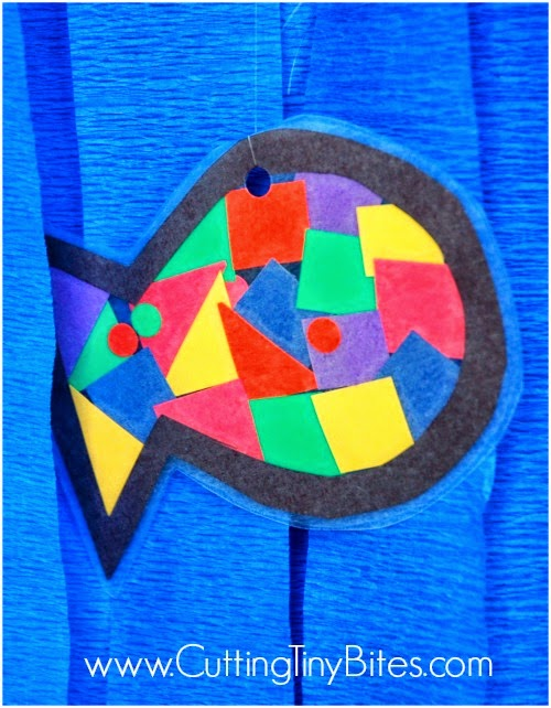 Rainbow Fish Craft for Ocean Theme Preschool