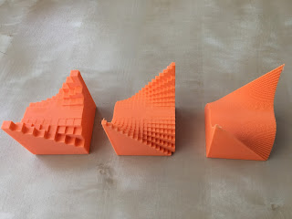 Image of three 3D printed surfaces