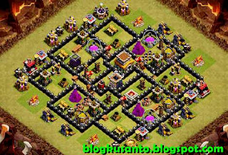 Base COC th 8 Anti Golem