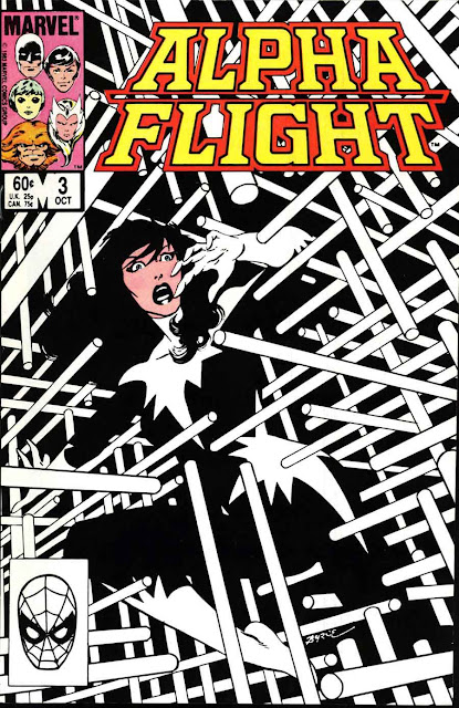 Alpha Flight v1 #3 marvel comic book cover art by John Byrne
