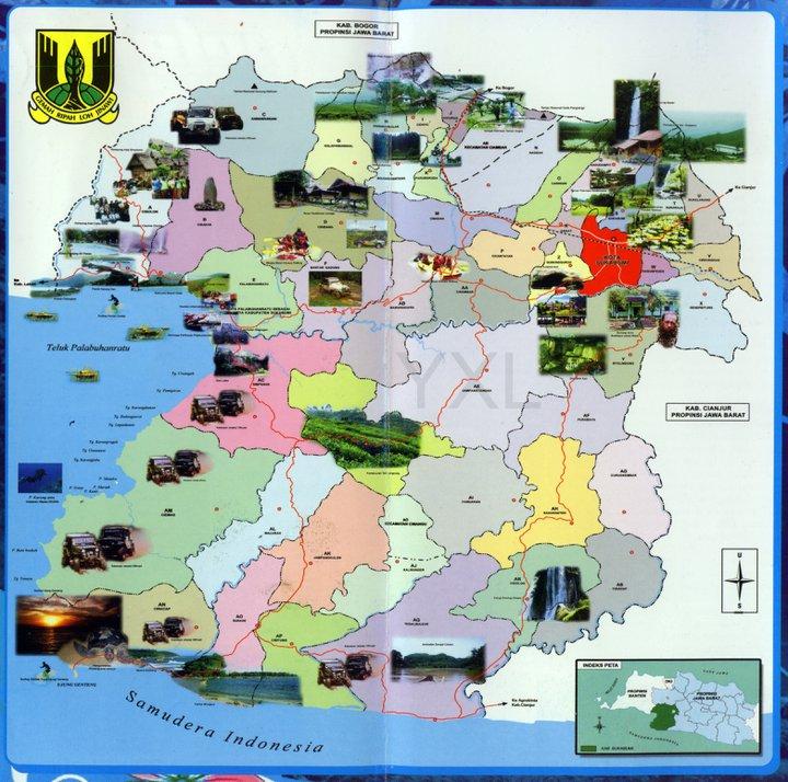 Foto : Peta Potensi Wisata Sukabumi | SukabumiToday