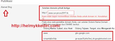 Cara Setting Domain diFreenom1