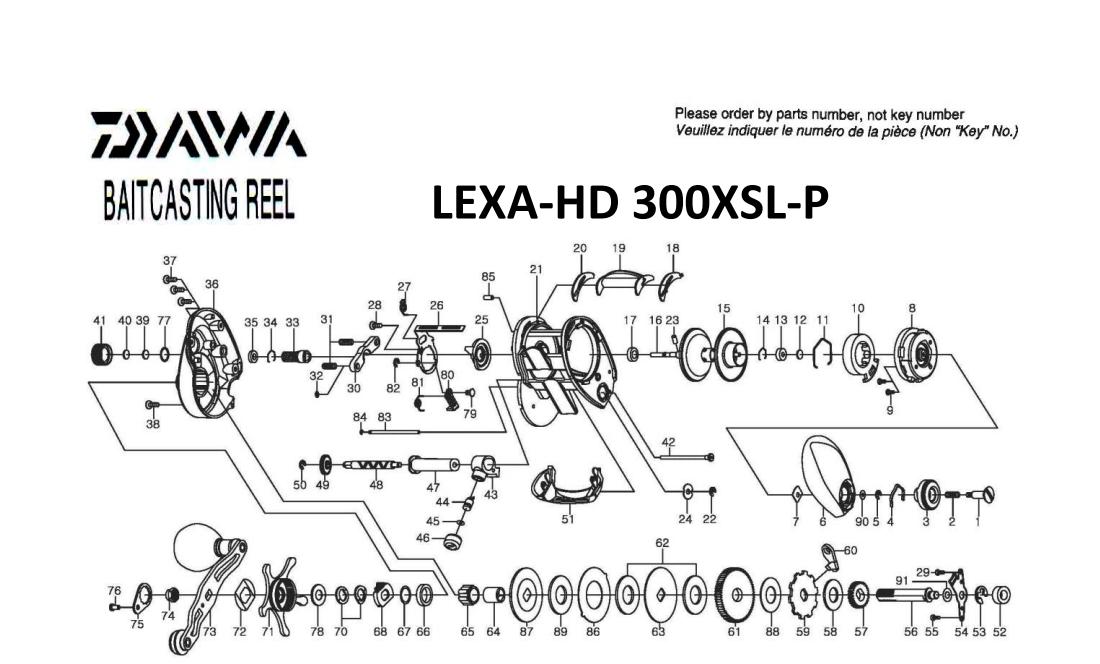 Daiwa Lexa 100 300 400 Schematics Include Lexa Hd 300 Hd