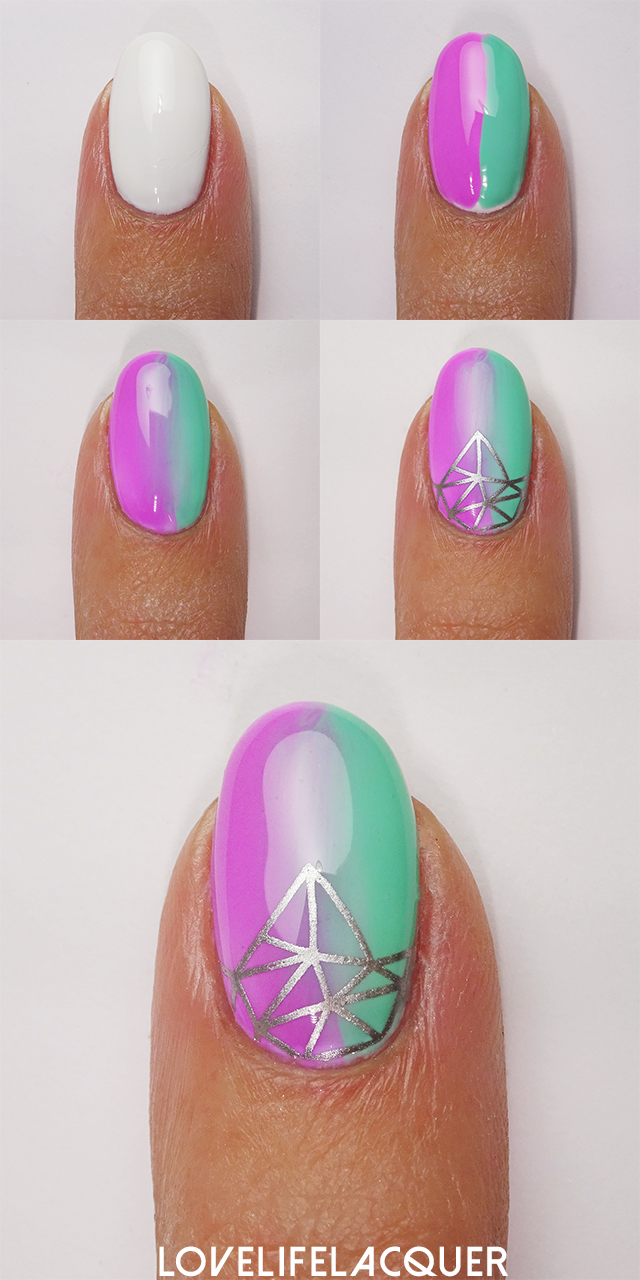 Bundle Monster Cali Dreamin' nail art