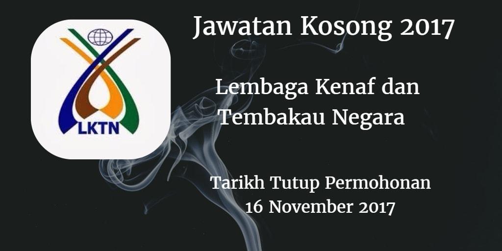 Jawatan Kosong LKTN 16 November 2017