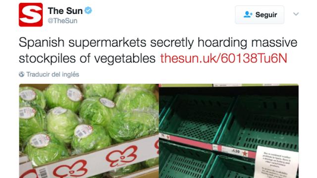"""""""The Sun"""" acusa a España de """"almacenar secretamente"""" lechugas"""