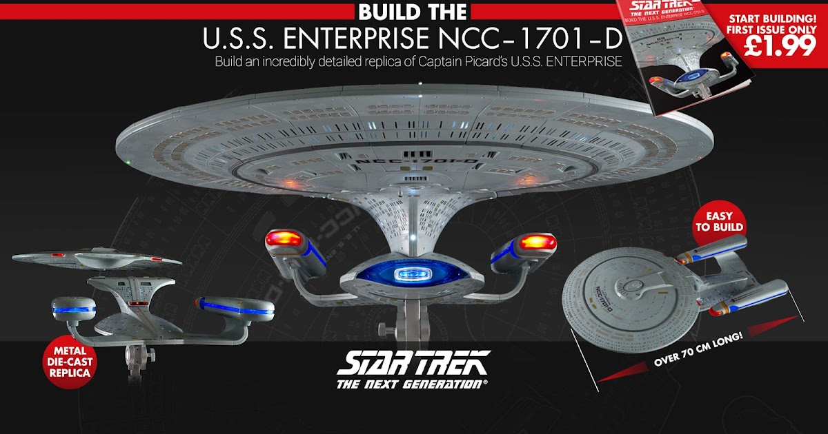 Eaglemoss Star Trek Mirror Universe ISS Enterprise NCC-1701 with Magazine