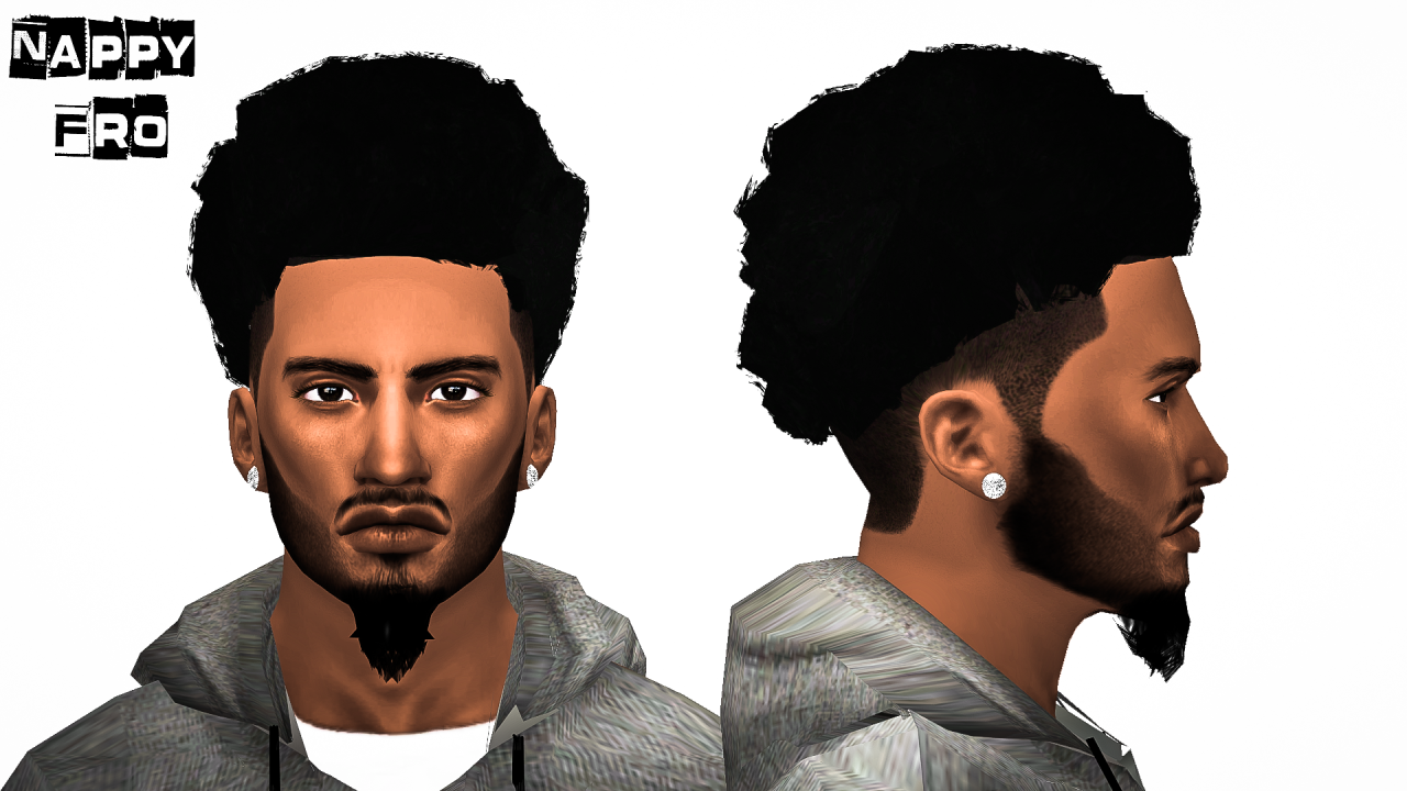My Sims 4 Blog Ts3 Nappy Fros Hair Conversions For Males