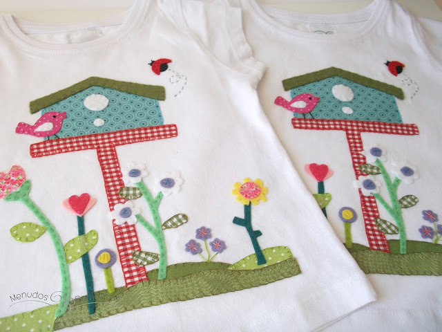 Camiseta jardín de flores