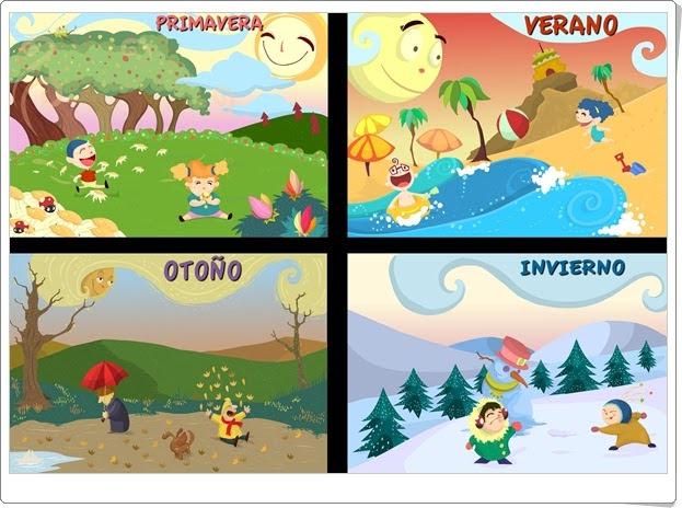 """Posters de """"Las estaciones del año"""""""