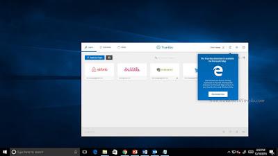 Intel TrueKey New Extensions in Microsoft Edge