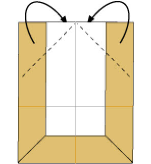 Step 5: Fold backward in the dotted line