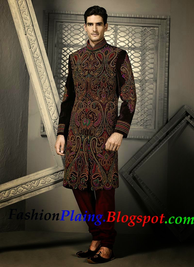 Latest Wedding Sherwani New Designs 2015