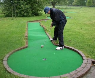Minigolf competition in Stratford-upon-Avon, Warwickshire