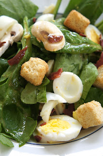 Spinach Salad with Warm Bacon Dressing: Savory Sweet and Satisfying