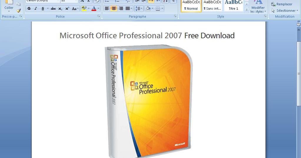 تحميل برنامج مايكروسوفت 2007 عربي مجانا